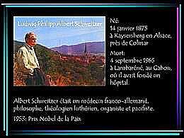diaporama pps Albert Schweitzer