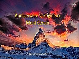 diaporama pps Anniversaire vertigineux mont Cervin