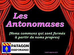 diaporama pps Antonomases