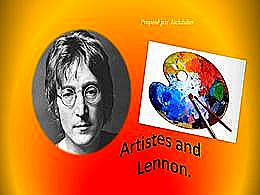 diaporama pps Artiste and Lennon