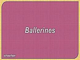 diaporama pps Ballerines