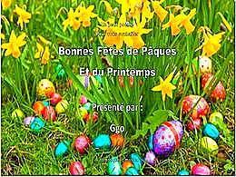 diaporama pps Bonne fêtes de Pâques et du printemps