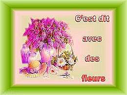 diaporama pps C'est dit avec des fleurs