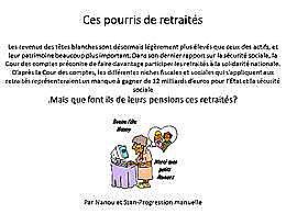 diaporama pps Ces pourris de retraités