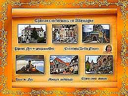 diaporama pps Châteaux médiévaux Allemagne