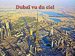 diaporama pps Dubaï vu du ciel