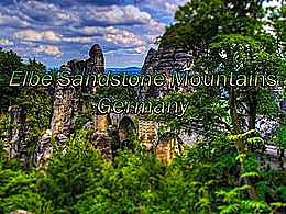 diaporama pps Elbe sandstone mountains germany
