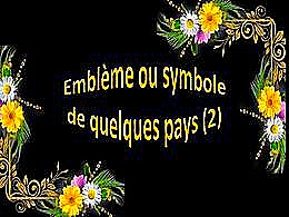 diaporama pps Emblème ou symbole de quelques pays 2