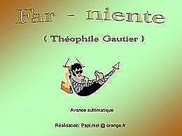 diaporama pps Far-niente, poème de Théophile Gautier