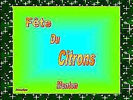 diaporama pps Fête du citron