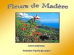 diaporama pps Fleurs de Madère