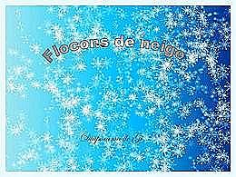 diaporama pps Flocons de neige