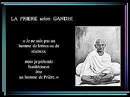 diaporama pps Gandhi prière