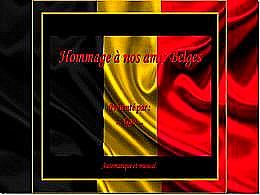 diaporama pps Hommage à nos amis belges – Attentats