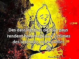diaporama pps Hommage aux victimes des attentats de Bruxelles