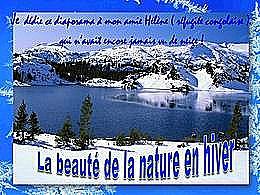 diaporama pps La beauté de la nature en hiver