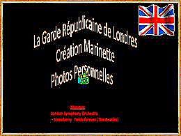 diaporama pps Garde républicaine de Londres N°3