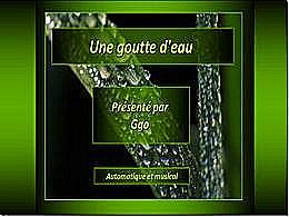 diaporama pps La goutte d'eau