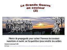 diaporama pps Première guerre mondiale en couleur