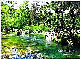 diaporama pps La rivière de notre enfance