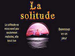 diaporama pps La solitude qui rend malade