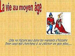 diaporama pps La vie au Moyen Âge
