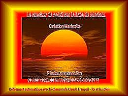 diaporama pps Coucher de soleil sur la baie de Morlaix