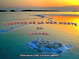 diaporama pps Le mystère de la mer morte