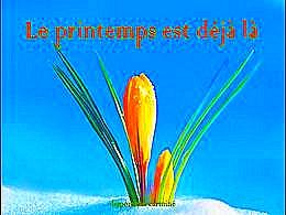 diaporama pps Le printemps est déjà là