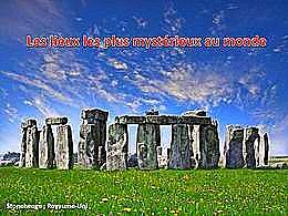 diaporama pps Lieux les plus mystérieux au monde