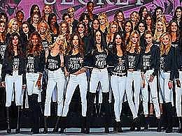 diaporama pps Les mannequins de Victoria's Secret à Paris