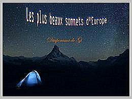 diaporama pps Les plus beaux sommets d'Europe