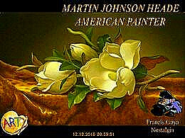 diaporama pps Martin Johnson Heade american painter