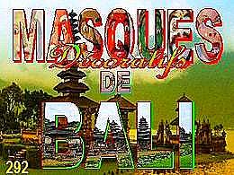 diaporama pps Masques de Bali
