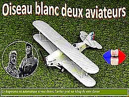 diaporama pps Oiseau blanc – Deux aviateurs