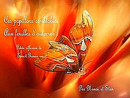 diaporama pps Papillons feuilles d'automne