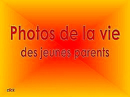 diaporama pps Photos de la vie des jeunes parents