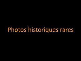 diaporama pps Photos historiques rares