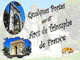 diaporama pps Portes et Arcs de Triomphe de France