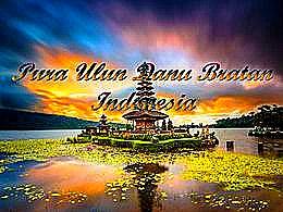 diaporama pps Pura Ulun Danu Bratan indonesia