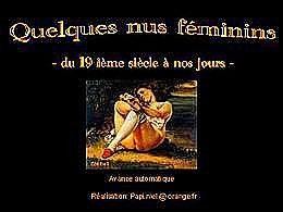 diaporama pps Quelques nus féminins