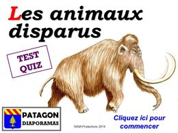 diaporama pps Quiz animaux disparus