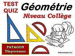 diaporama pps Quiz géométrie niveau collège