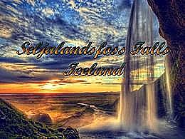 diaporama pps Seljalandsfoss falls iceland