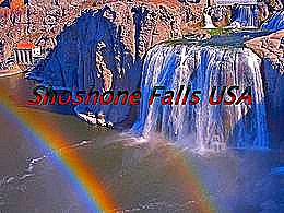 diaporama pps Shoshone falls USA