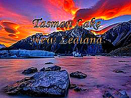 diaporama pps Tasman lake New-Zealand