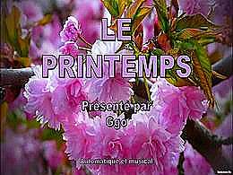 diaporama pps Toi qui me lis, le printemps est là