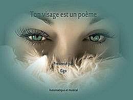 diaporama pps Ton visage est un poème