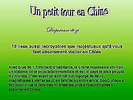 diaporama pps Un petit tour en Chine