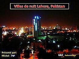 diaporama pps Villes de nuit Lahore Pakistan